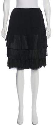 Givenchy Tiered Fringed Skirt