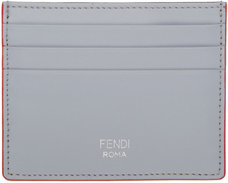 Fendi Grey & Brown Card Holder $195 thestylecure.com