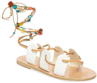 Ancient Greek Sandals Women's Amaryllis Stones Leather Sandal