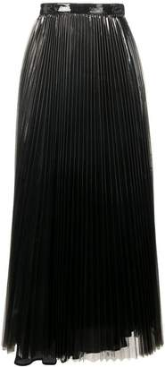 Priscavera glossy pleated skirt