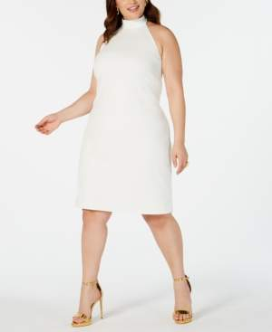 Teeze Me Trendy Plus Size Halter Sheath Dress