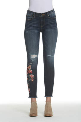 Driftwood Snake Floral Embroidered Jackie Jean