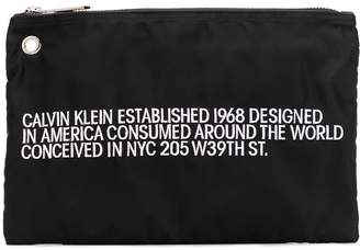 Calvin Klein embroidered small pouch