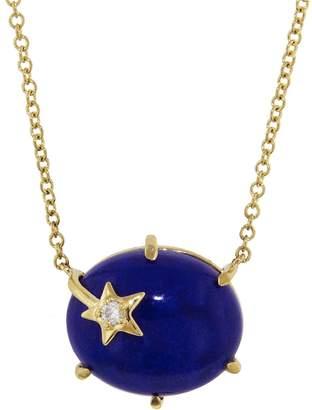 Andrea Fohrman Lapis Mini Galaxy Necklace - Yellow Gold