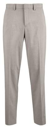 Burton Mens Grey Tailored Fit Stretch Trousers