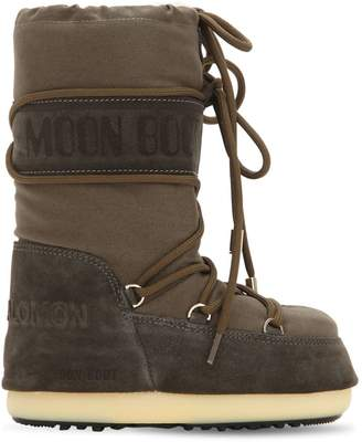 Moon Boot Cotton & Shearling Boots