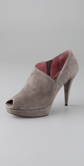 Luxury Rebel Carol Suede Open Toe Booties