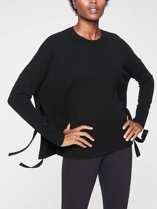 Athleta Cashmere Chamonix Side-Tie Sweater