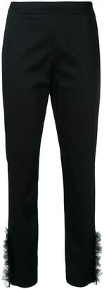 Moschino tulle cuff tailored trousers