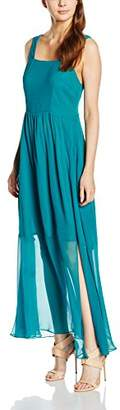 Almost Famous Women's Silk Maxi Cocktail Sleeveless Dress