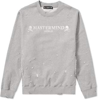 Mastermind World MASTERMIND WORLD Logo Distressed Crew Sweat