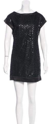 Marc Jacobs Marc Jacobs Silk Embellished Shift Dress