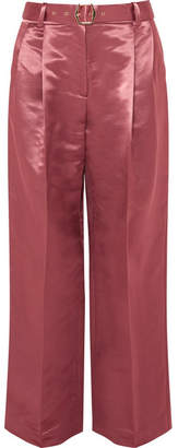 Sies Marjan - Blanche Belted Satin Pants - Fuchsia