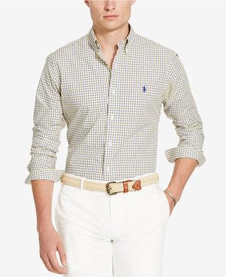 Polo Ralph Lauren Men's Printed Long Sleeve Poplin Shirt $89.50 thestylecure.com