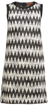 Missoni Zigzag Knit Mini Shift Dress - Womens - Black