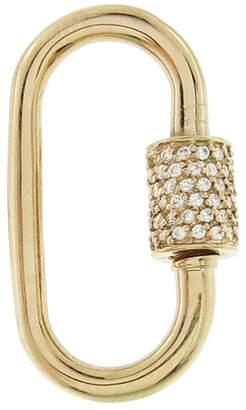 Marla Aaron Medium Stoned Diamond Lock - Yellow Gold