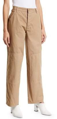 Tory Burch High-Waist Twill Carpenter Pants