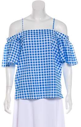Draper James Gingham Cold-Shoulder Top