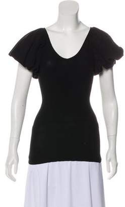 Tracy Reese Short Sleeve Structured Top