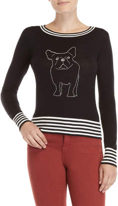 Buffalo David Bitton Black Dog Embroidered Sweater