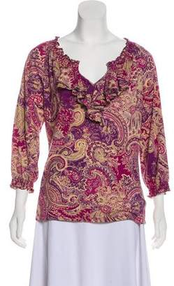 Lauren Ralph Lauren Printed Long Sleeve Blouse