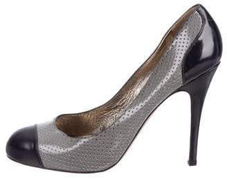 Valentino Perforated Round-Toe Pumps