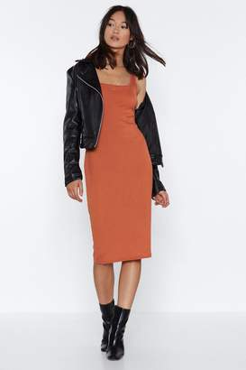 Nasty Gal Tight Like That Ribbed Midi Dress