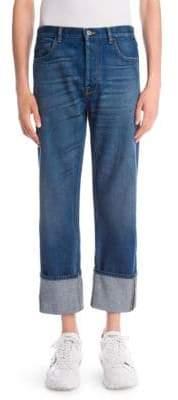Valentino Cuffed Oversized Jeans