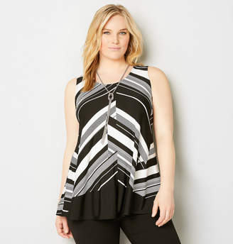 Avenue Chevron Swing Tank with Necklace