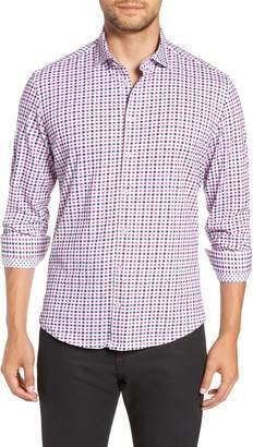 Stone Rose Trim Fit Knit Sport Shirt
