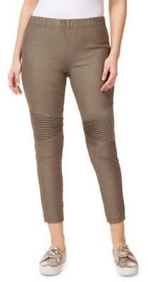 Dex Textured Cotton Blend Leggings