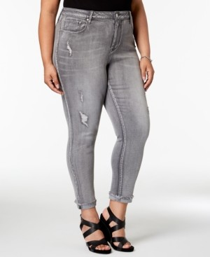 Seven7 Jeans Trendy Plus Size Cropped Skinny Jeans