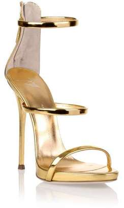 Giuseppe Zanotti Harmony gold sandal $512 thestylecure.com