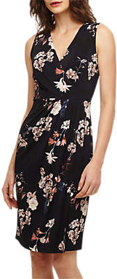 Phase Eight Fiona Floral Slinky Jersey Dress, Navy/Pink