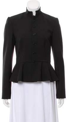 Ralph Lauren Black Label Wool Peplum Blazer