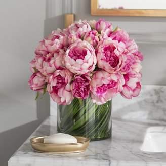 DAY Birger et Mikkelsen Willa Arlo Interiors Faux Magenta & Pink Peony Floral Arrangement in Glass Vase