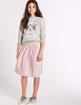Marks and Spencer Animal Print Velvet Skirt (3-16 Years)