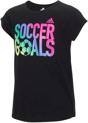adidas Graphic-Print T-Shirt, Little Girls