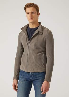 Emporio Armani Suede Leather Jacket