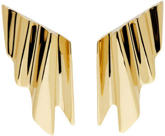Saint Laurent Gold Babylone Clip-On Earrings