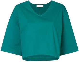 Le Ciel Bleu flared cropped T-shirt