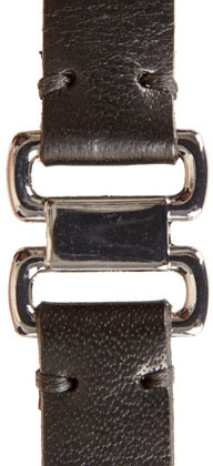 Topshop Black Snaffle Skinny Belt