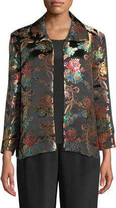 Caroline Rose Jewel Box Jacquard Boxy Topper Jacket