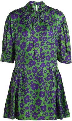 Miu Miu Floral-print silk dress