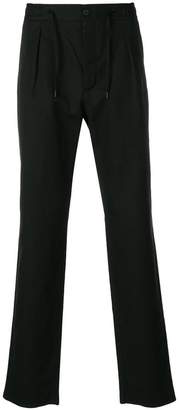 Fendi drawstring straight-leg trousers