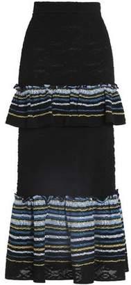 Peter Pilotto Tiered Jacquard-Knit Maxi Skirt