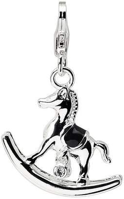Swarovski Amore La Vita Sterling Crystal Rocking Horse Charm
