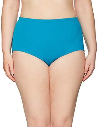 Maxine Of Hollywood Women's Plus Size High Waist Hipster Bikini Swimsuit Bottom