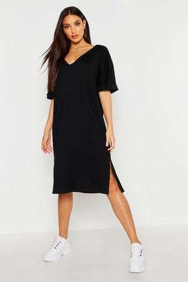 boohoo Oversized Midi T-Shirt Dress