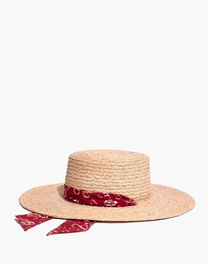 Madewell Bandana Straw Hat